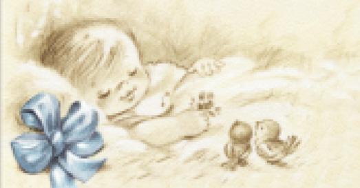 biglietto battesimo nascita azzurro