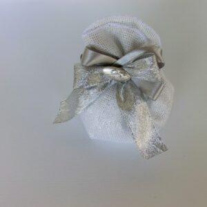 sacchetto anniversario nozze d'argento