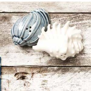 Claraluna bomboniere sale e pepe coppia conchiglie