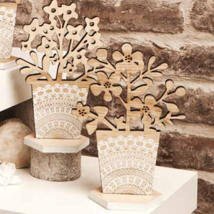 Bomboniere Matrimonio In Legno : Bomboniera sottopentola legno decoro pizzo claraluna lighting ideas