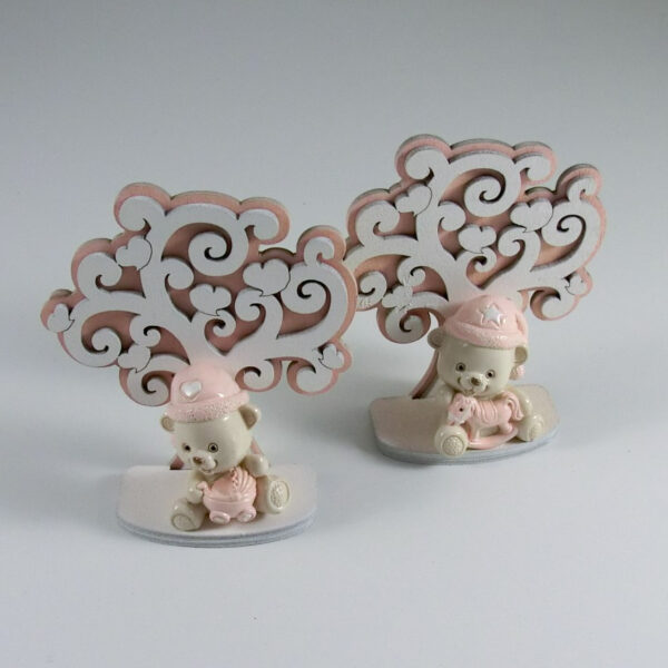bomboniera albero della vita con orsetto