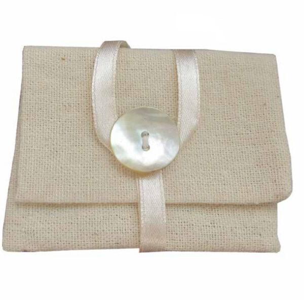 sacchetto in iuta bomboniere Claraluna
