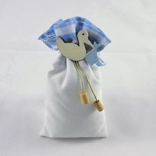 sacchetto portaconfetti battesimo nascita bimbo