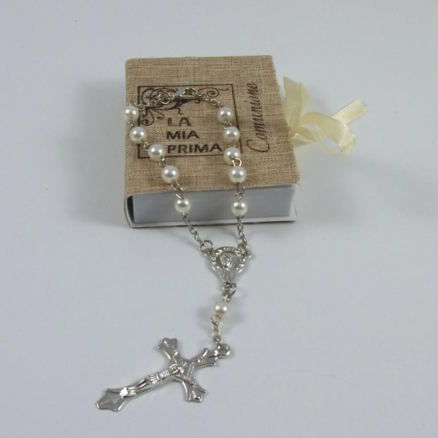 scatolina con rosario comunione