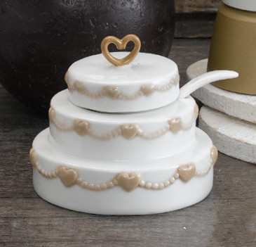 bomboniera matrimonio anniversari zuccheriera torta