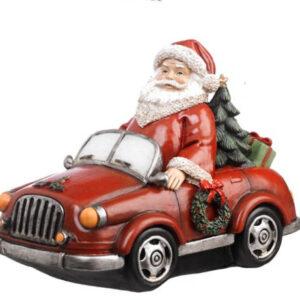 regali natale santa claus in macchina