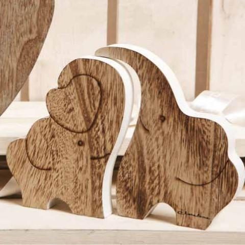 Bomboniere Matrimonio In Legno : Bomboniera claraluna sottopentola coppia elefanti in legno
