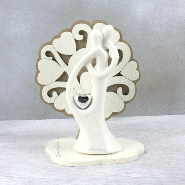 bomboniera coppia sposi con albero della vita Claraluna
