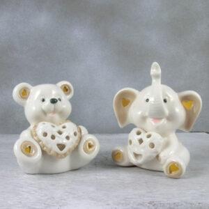 bomboniere orsetto elefante con luce led