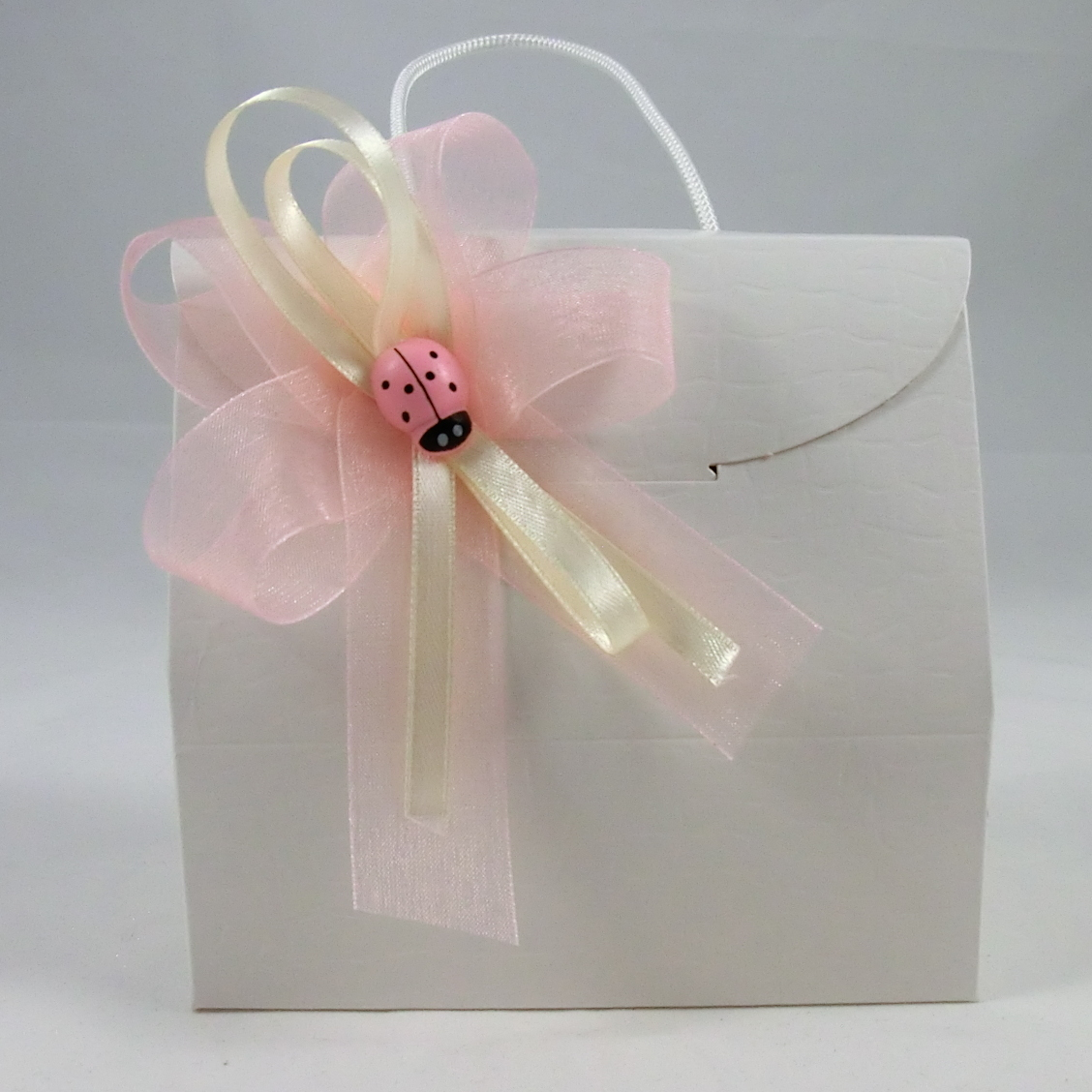 bomboniera battesimo bimba rosa femmina