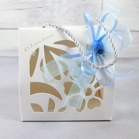 bomboniere battesimo bimbo confetti azzurri Claraluna