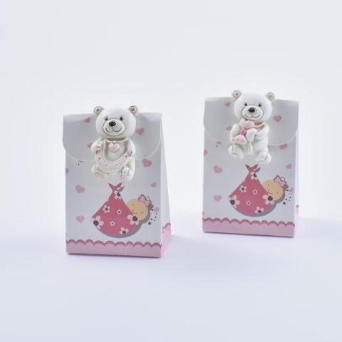 scatolina portaconfetti con orsetto in resina