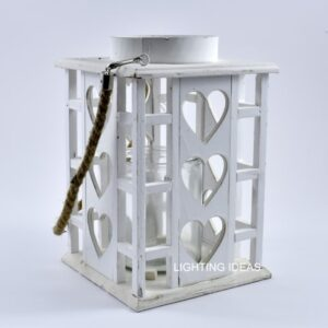 Lanterna in legno portacandela