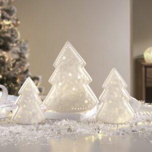 Alberi di Natale in porcellana a LED