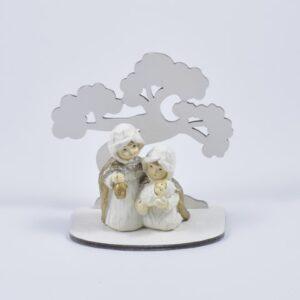 presepe con bonsai sacra famiglia