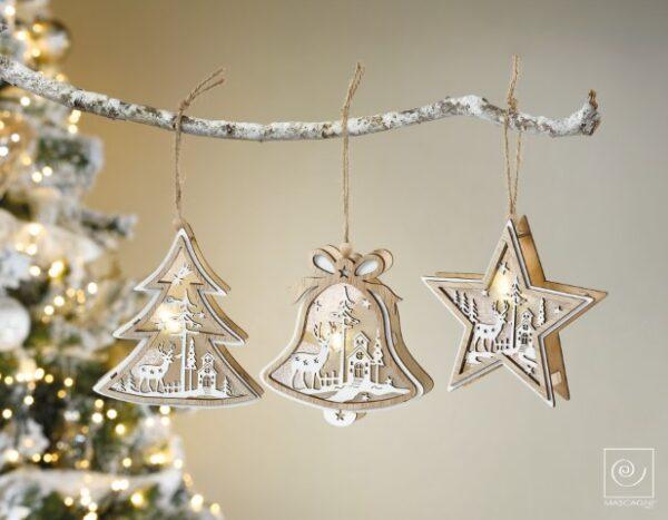 decorazioni natale albero campana stella