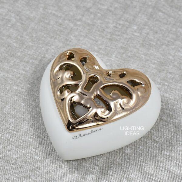 bomboniere Claraluna cuore scatola con led