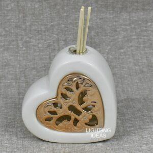 bomboniera claraluna cuore porcellana diffusore