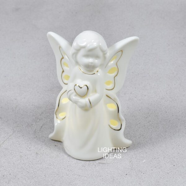 Angelo Claraluna in porcellana luminoso