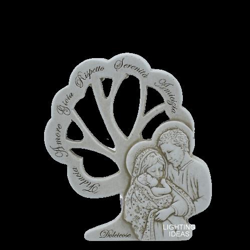 Bomboniera sacra famiglia con albero della vita