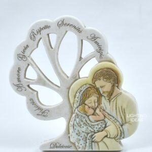 bomboniera sacra famiglia in polvere di marmo