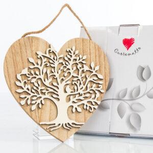 bomboniera cuore con albero della vita