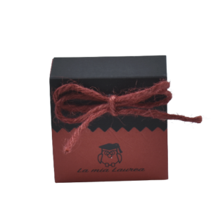 Bomboniera laurea scatolina portaconfetti