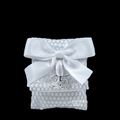 sacchetto bustina cuorematto argento