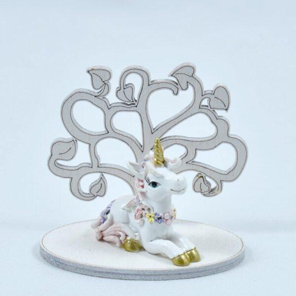 bomboniere unicorno con albero della vita