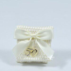 Bomboniera sacchetto cuorematto portaconfetti
