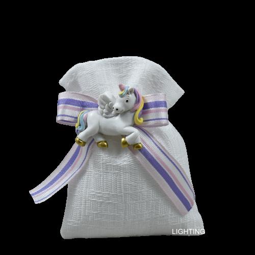 bomboniera sacchetto magnete unicorno