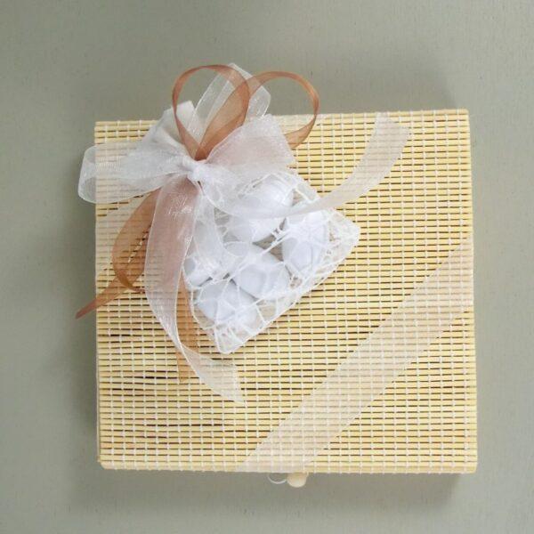 bomboniere cuorematto scatola in midollino
