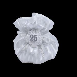 bomboniera sacchetto anniversario di matrimonio 25°