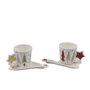 coppia tazzine caffe' natalizie