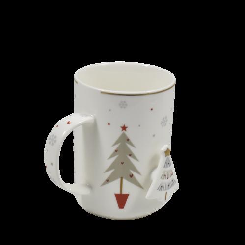 mug di natale con decori natalizi