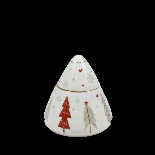 zuccheriera porcellana di Natale Brandani