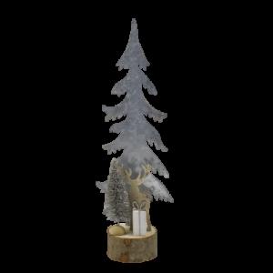 albero di natale metallo e legno