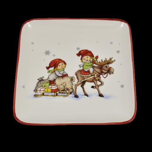Piattino natalizio con gnomi