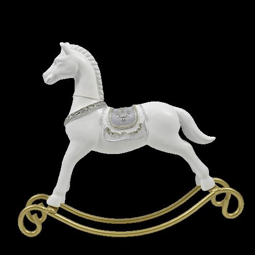 cavallo a dondolo bianco