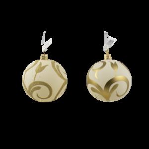 Palline di vetro avorio e oro