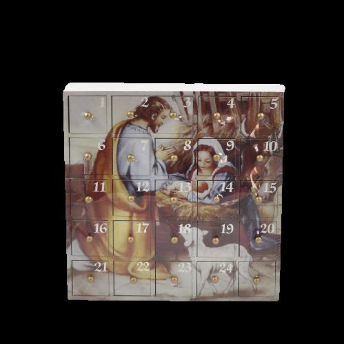 Calendario dell'avvento con cassettini in legno