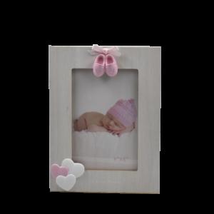 portafoto scarpine rosa bimba Claraluna