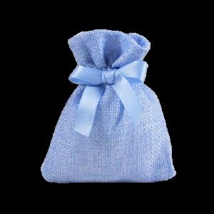 Sacchetto azzurro battesimo bimbo