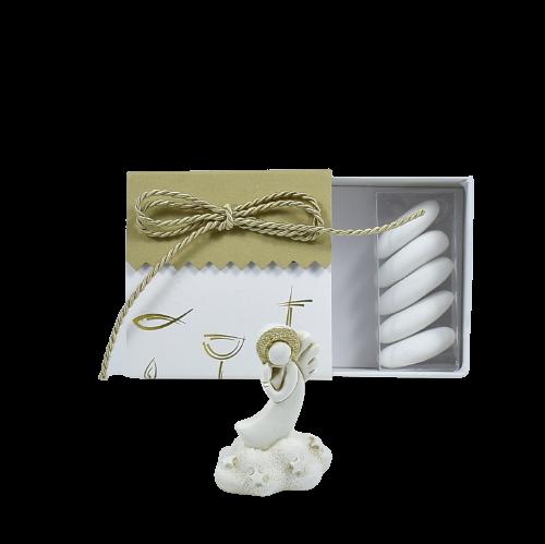 bomboniera battesimo comunione angelo in resina