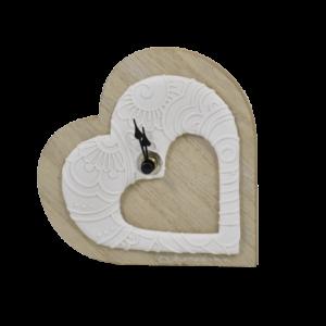 bomboniera orologio cuore legno Claraluna